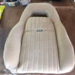 PMD seat covered with new upholstery